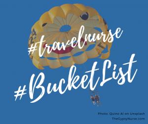bucket list experiences as a travel nurse