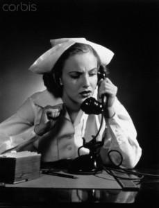 1940s nurse on phone