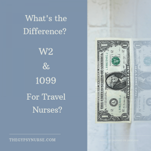 W2 and 1099 for Travel Nurses